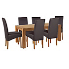 more details on Heart of House Aspley Table & 6 Black Skirted Chairs.