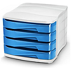 more details on CEP 4 Drawer Desktop Storage - Ocean Blue.