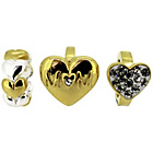 more details on Link Up Gold Plated Silver Crystal Heart Mum Charms - 3.