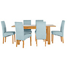 more details on Heart of House Hastings Ext Table & 6 Duck Egg Chairs.