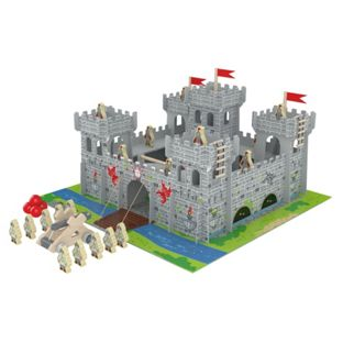 Chad Valley Wooden Castle with Accessories
