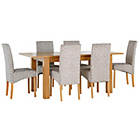 more details on Heart of House Hastings Ext Table & 6 Floral Skirted Chairs.