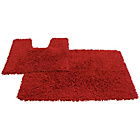 more details on Tufted Twist 2 Piece Bath Mat Set - Red.