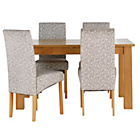 more details on Heart of House Hastings Ext Table & 4 Floral Skirted Chairs.