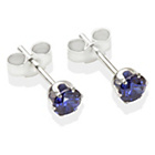 more details on Sterling SilverTanzanite Cubic Ziconia Stud Earrings - 4MM