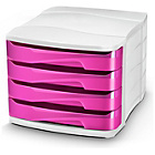 more details on CEP 4 Drawer Desktop Storage - Pink.