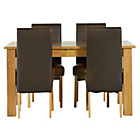 more details on Heart of House Hastings Ext Table & 4 Chocolate Chairs.