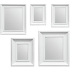 more details on Premier Housewares Set of 5 White Frame Mirrors.
