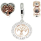 more details on Link Up Rose Gold Plated Silver Tree of Life Charms - 3.