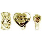 more details on Link Up Gold Plated Silver Crystal Anniversary Charms - 3.