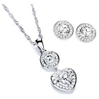 more details on Buckley Cubic Zirconia Heart Necklace and Stud Earrings Set.