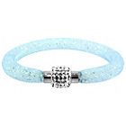 more details on Link Up Single Row Pale Blue Crystal Bracelet.