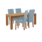 more details on Heart of House Aspley Table & 4 Duck Egg Skirted Chairs.