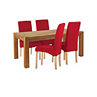 more details on Heart of House Aspley Table & 4 Red Skirted Chairs.