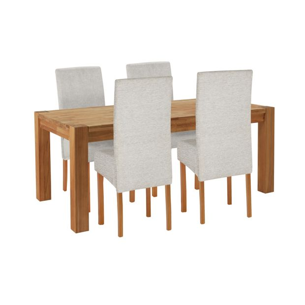 Buy Heart Of House Aspley Wood Table And 4 Skirted Chairs Grey At