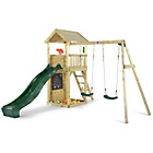 more details on Plum Lookout Tower Wooden Climbing Frame with Swings.