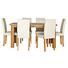 more details on Shepstone Extendable Table and 6 Paris Cream Chairs.