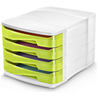 more details on CEP 4 Drawer Desktop Storage - Green.