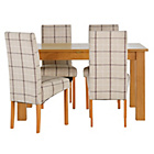 more details on Heart of House Hastings Ext Table & 4 Checked Skirted Chairs