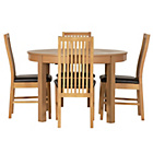 more details on Coleridge Extendable Oval Table and 4 Paris Black Chairs.