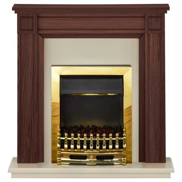 Buy Adam Georgian 2kw Electric Fireplace Suite Mahogany Cream At Your Online