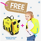 more details on Trunki Bernard the Bee Ride-On Suitcase - Yellow
