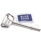 more details on Blue Badge Company Navy Display Holder and Radar Key.