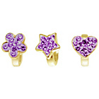 more details on Link Up Gold Plated Silver Flower, Heart and Star Charms - 3