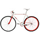 more details on Chill Bike 53cm with Red Rims - White.