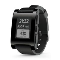 Pebble 10076797CUR SmartWatch for iOS and Android Devices (Black)