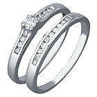 more details on 9ct White Gold 0.25ct tw Diamond Bridal Ring Set.