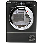 more details on Hoover AquaVision DNCD813BB 8KG Tumble Dryer- Black/Exp.