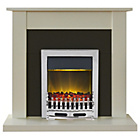 more details on Adam Sutton Electric Fire Suite - Cream and Black.