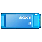 more details on Sony USM8GX 8GB 3.0 X Series Flash Drive - Blue.