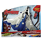 more details on Hot Wheels Avengers Age of Ultron Quinjet Moto Launcher.