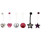 more details on Link Up Stainless Steel Flexible Belly Bars - Set of 6.