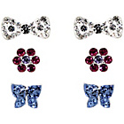 more details on Sterling Silver Bow, Rose, Daisy, Blue Butterfly Studs.