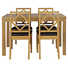 more details on Ashby Oak Stain 120cm Dining Table & 4 Chocolate Chairs.