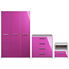 more details on Sywell 3 Piece 3 Door Wardrobe Package - Pink.