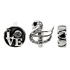 more details on Link Up Panda Heart Ring Charms - Set of 3.