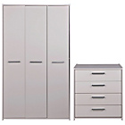 more details on Sywell 2 Piece 3 Door Wardrobe Package - White.