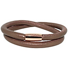 more details on 2 Row Brown Leather Cord Bracelet.