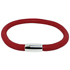 more details on Link Up Single Row Red Leather Cord Bracelet.