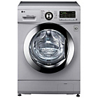 more details on LG F1496AD58 4KG 1400 Spin Washer Dryer - Silver.