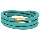more details on 3 Row Turquoise Leather Cord Bracelet.