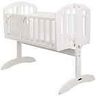 more details on Obaby Sophie Swinging Crib, Bedding and Mattress - White.