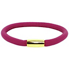 more details on Link Up Single Row Pink Leather Cord Bracelet.