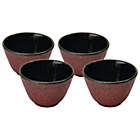more details on BergHOFF Cast Iron Teabowls Set of 4 - Dark Red.