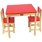 more details on Liberty House Toys TikkTokk Boss Table and Chair Set Red.