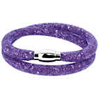 more details on Link Up 2 Row Purple Crystal Bracelet.